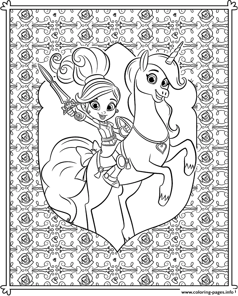 Nella Princess Knight Coloring Pattern For Teenager Coloring Pages ...