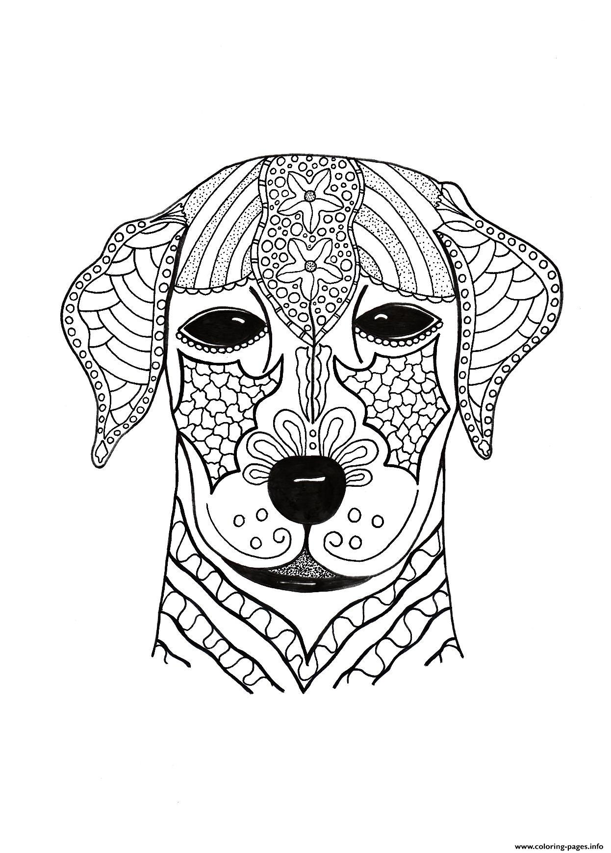 I Woof You Adult Hard Advanced coloring pages
