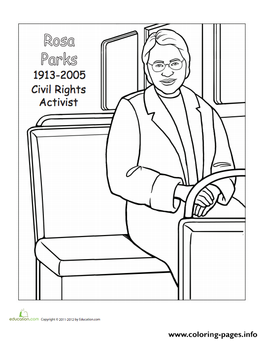 Rosa Parks Coloring Pages Printable
