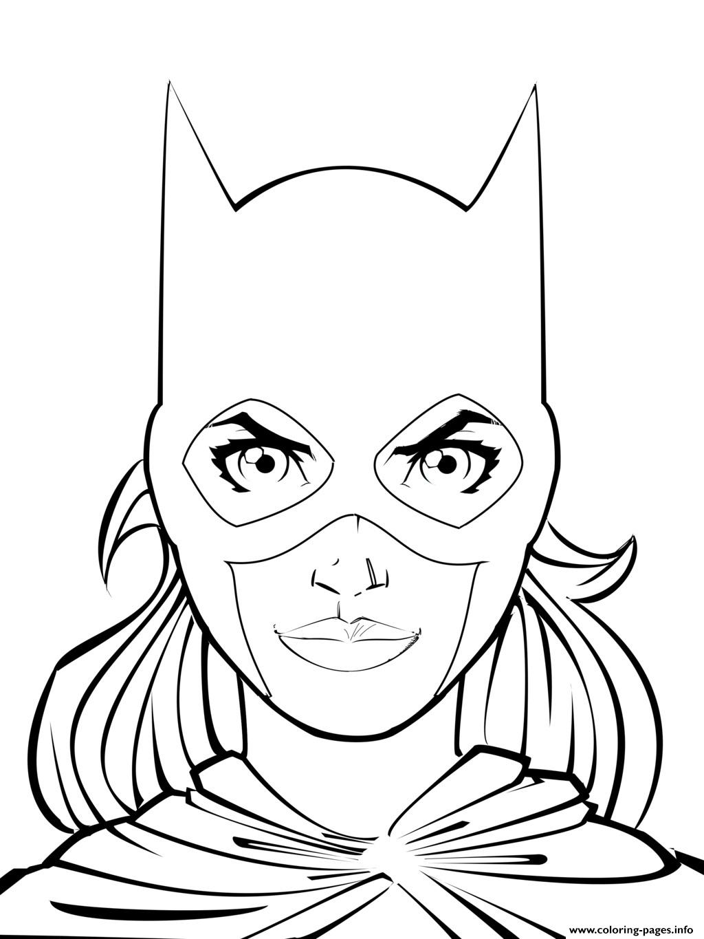 supergirl batgirl coloring pages