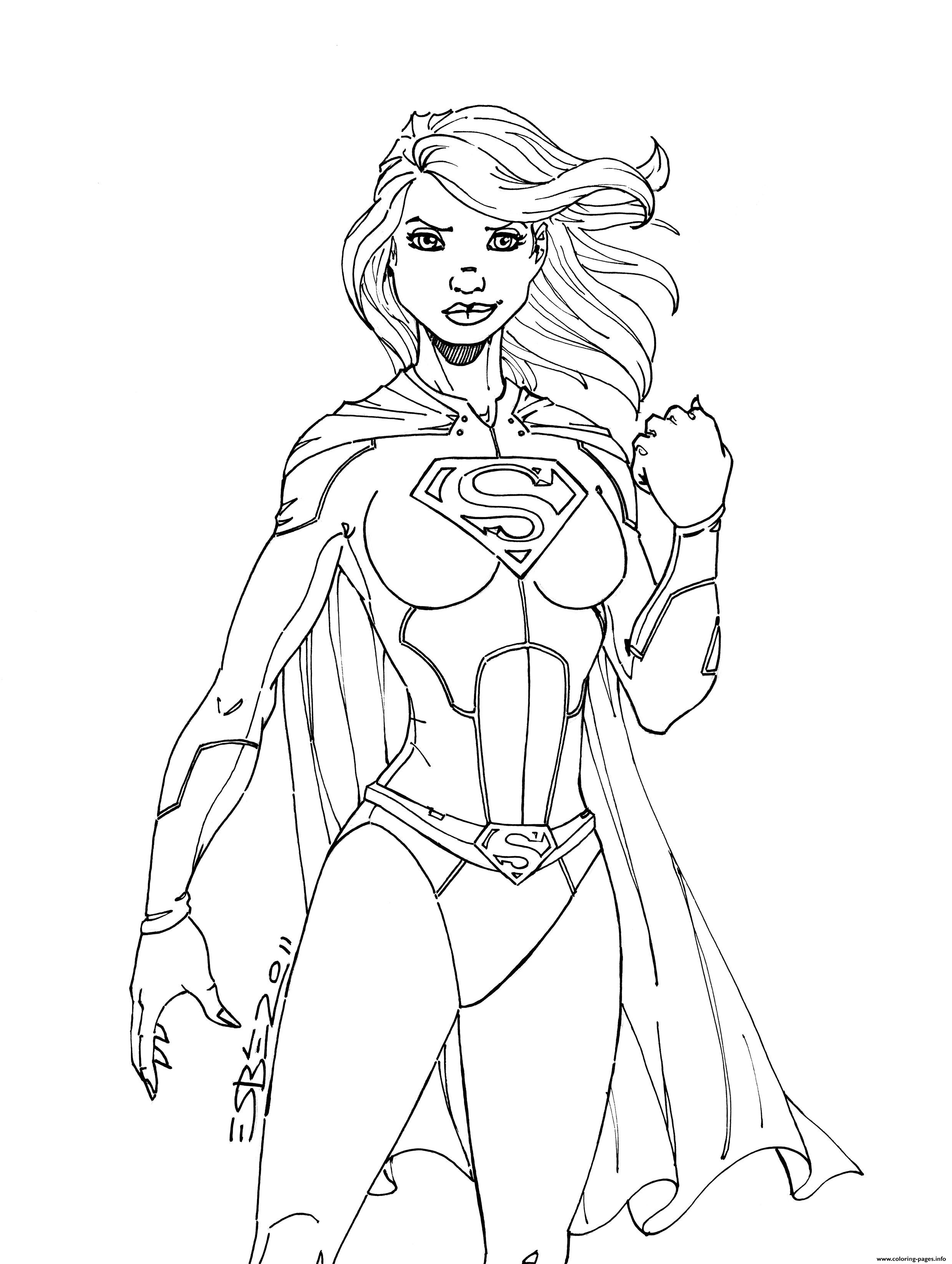 superwoman power girl coloring pages printable