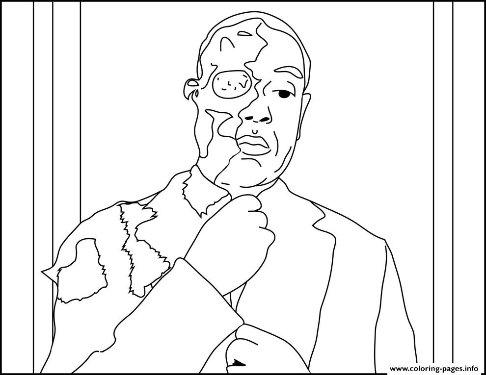 Two Face Gus Breaking Bad coloring pages
