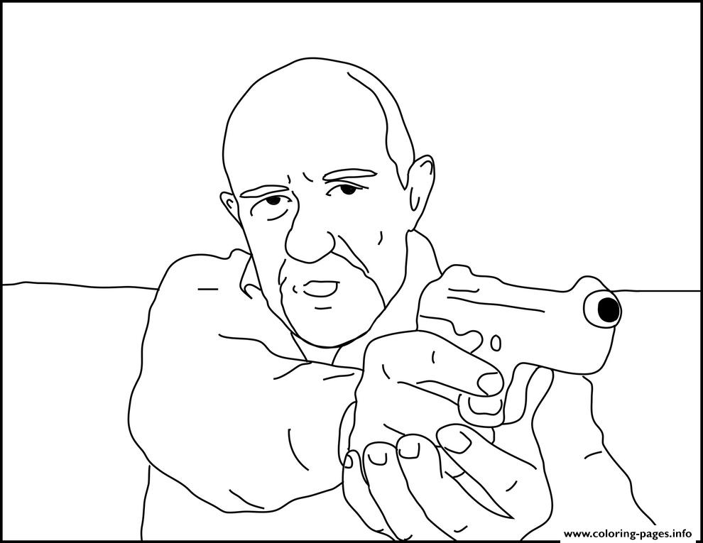 Mike Ehrmantraut Breaking Bad Coloring Pages Printable