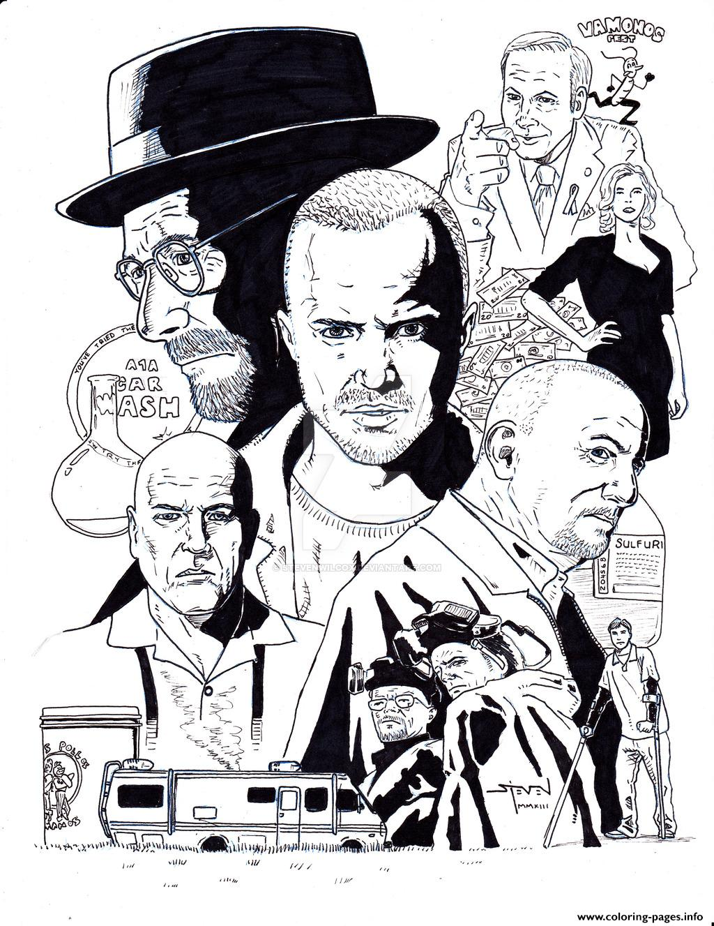 Breaking Bad Montage By Stevenwilcox coloring pages