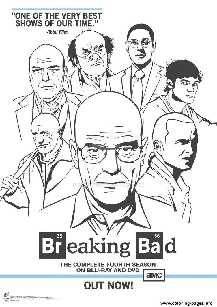 Breaking Bad Poster Coloring Pages Printable