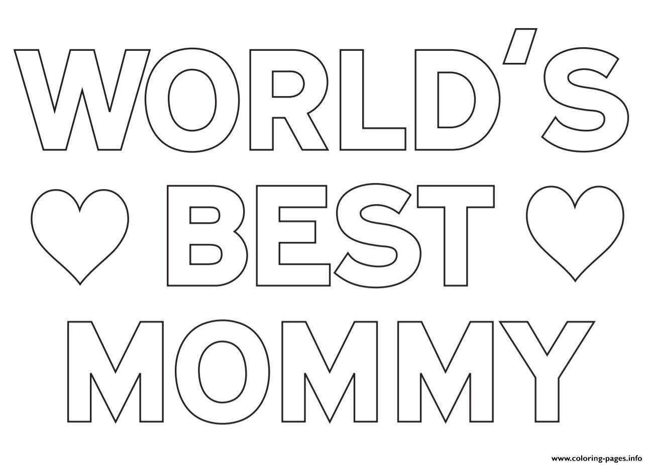 mom coloring page - worlds best mommy mom coloring pages printable