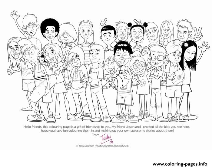 Multicultural Me Colouring Page For Kids And Students Diversity ...