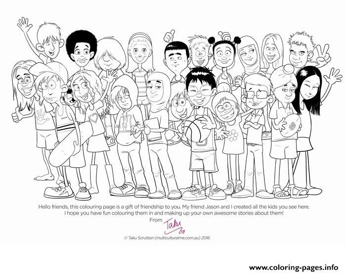 diversity children coloring pages - photo#3