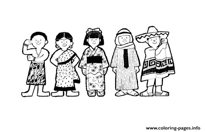 diversity coloring pages for children - photo#8