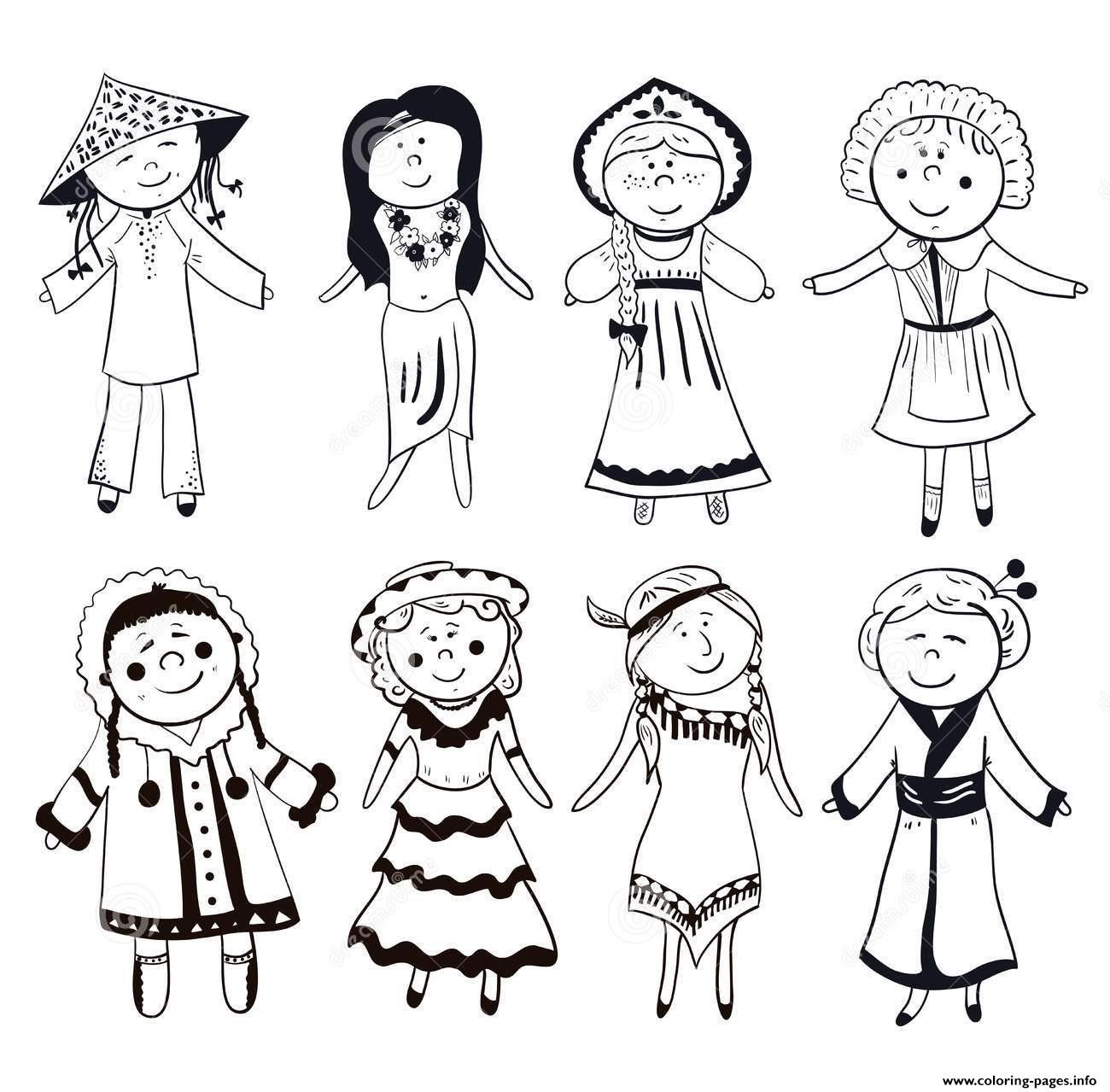 Vietnamese Traditional Dress Vietnam Black And White Coloring Pages ...