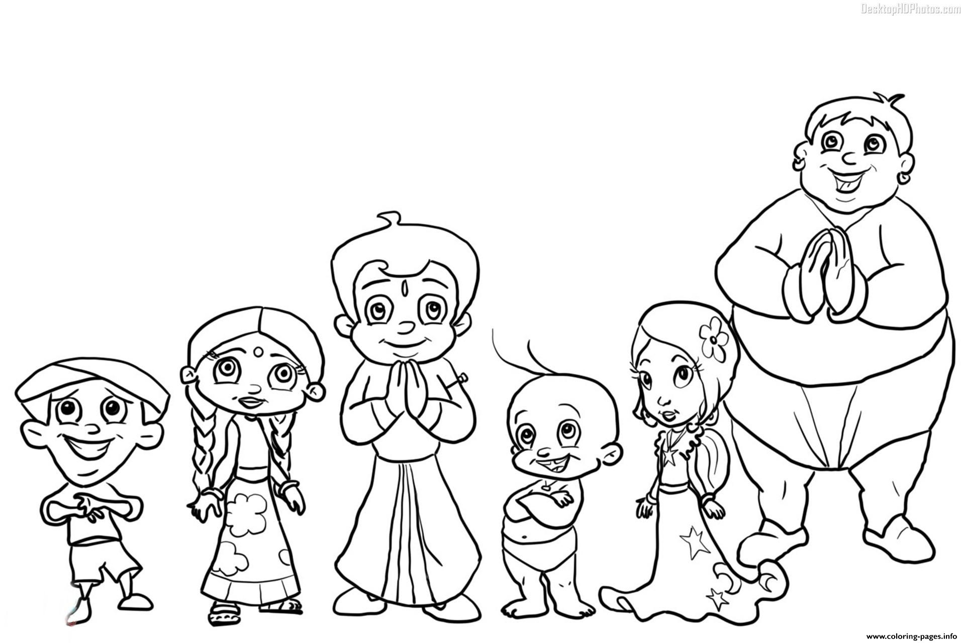 chota bheem team coloring pages - photo#1