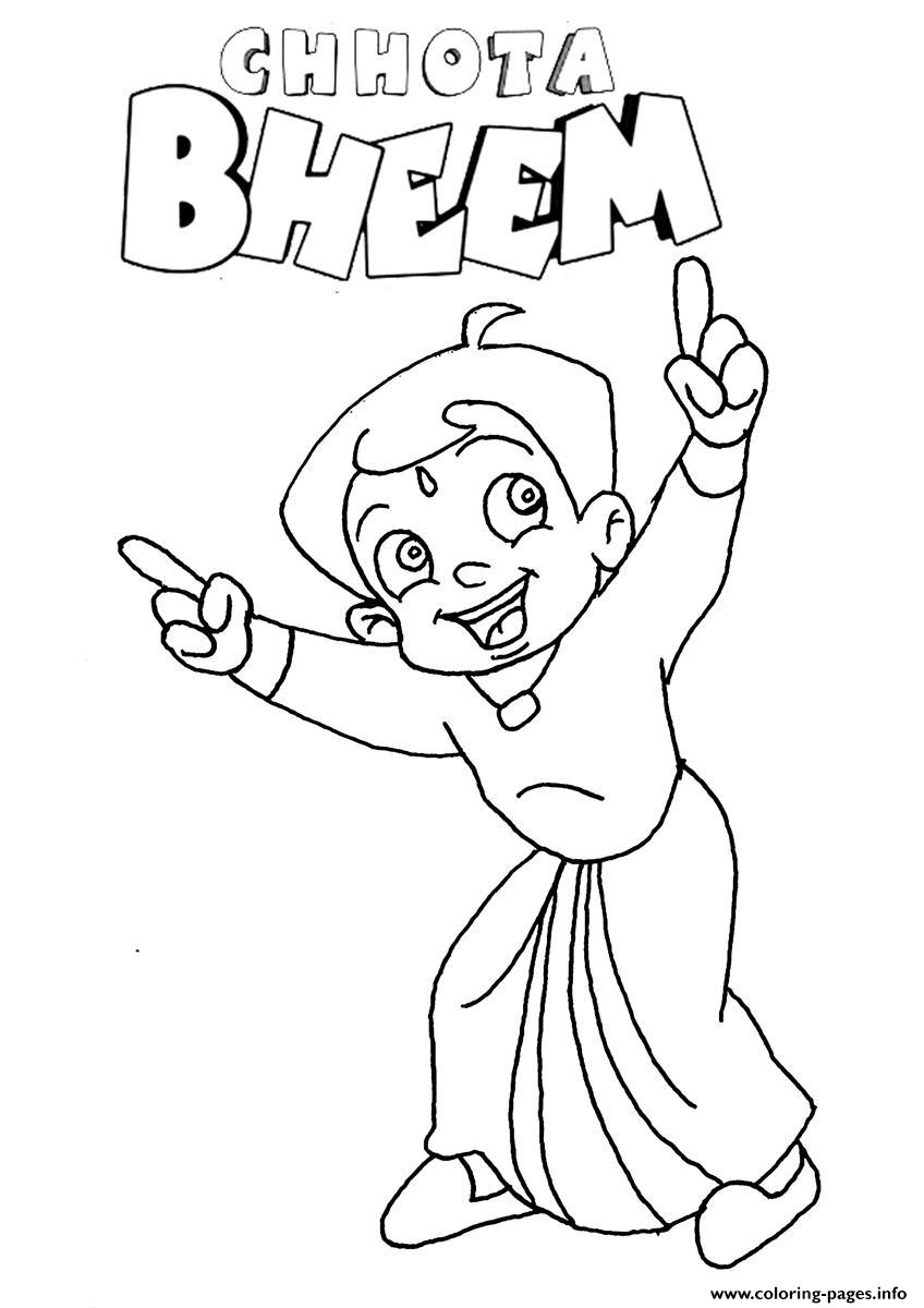 cartoon sketches of krishna chhota bheem coloring pages printable