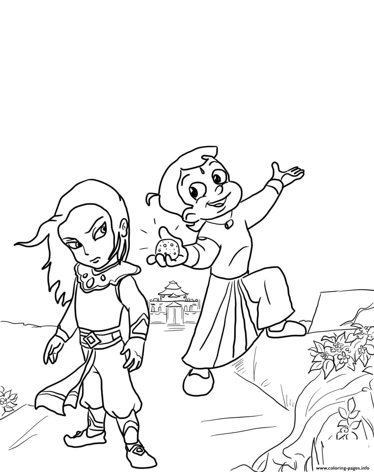 chota bheem and the throne of bali coloring pages printable