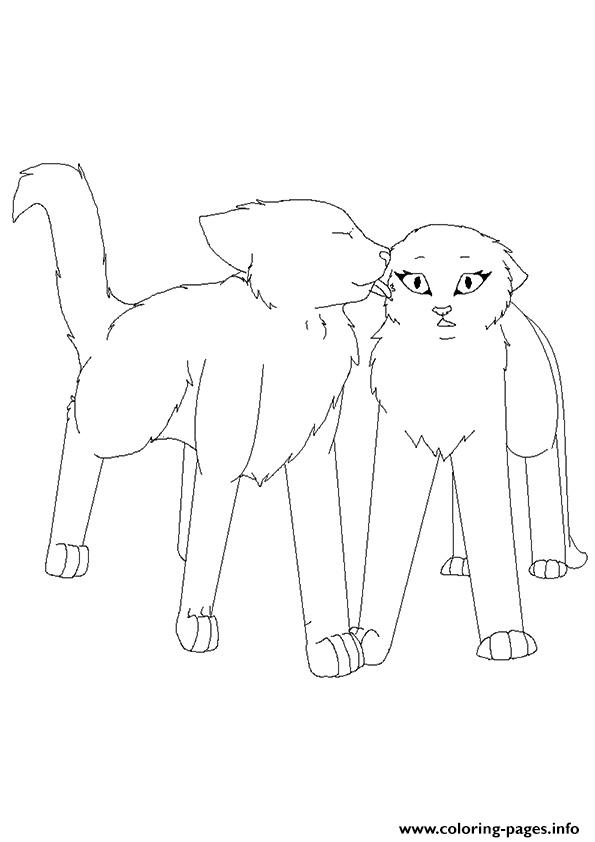 Coloring Online Warrior Cats A4 Coloring Pages Printable
