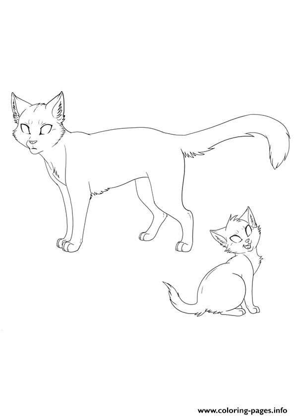 cat template a4 coloring pages printable
