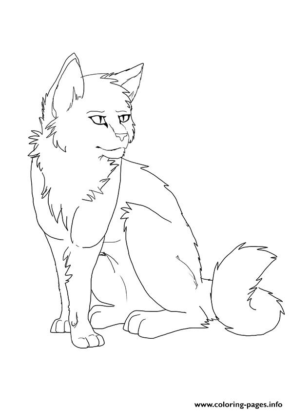 Warrior Cat Free Semi Realism A4 Coloring Pages Printable