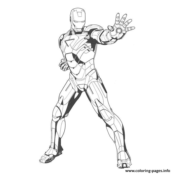 Iron Man 116 Superheros Coloring Pages