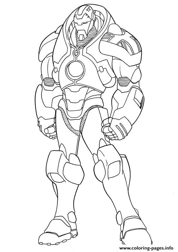 ironman mark 1 a4 avengers marvel coloring pages - Avengers Coloring Pages Printable
