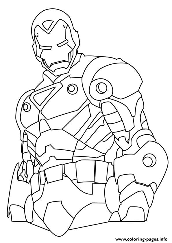 iron man a4 avengers marvel coloring pages - Avengers Coloring Pages Printable