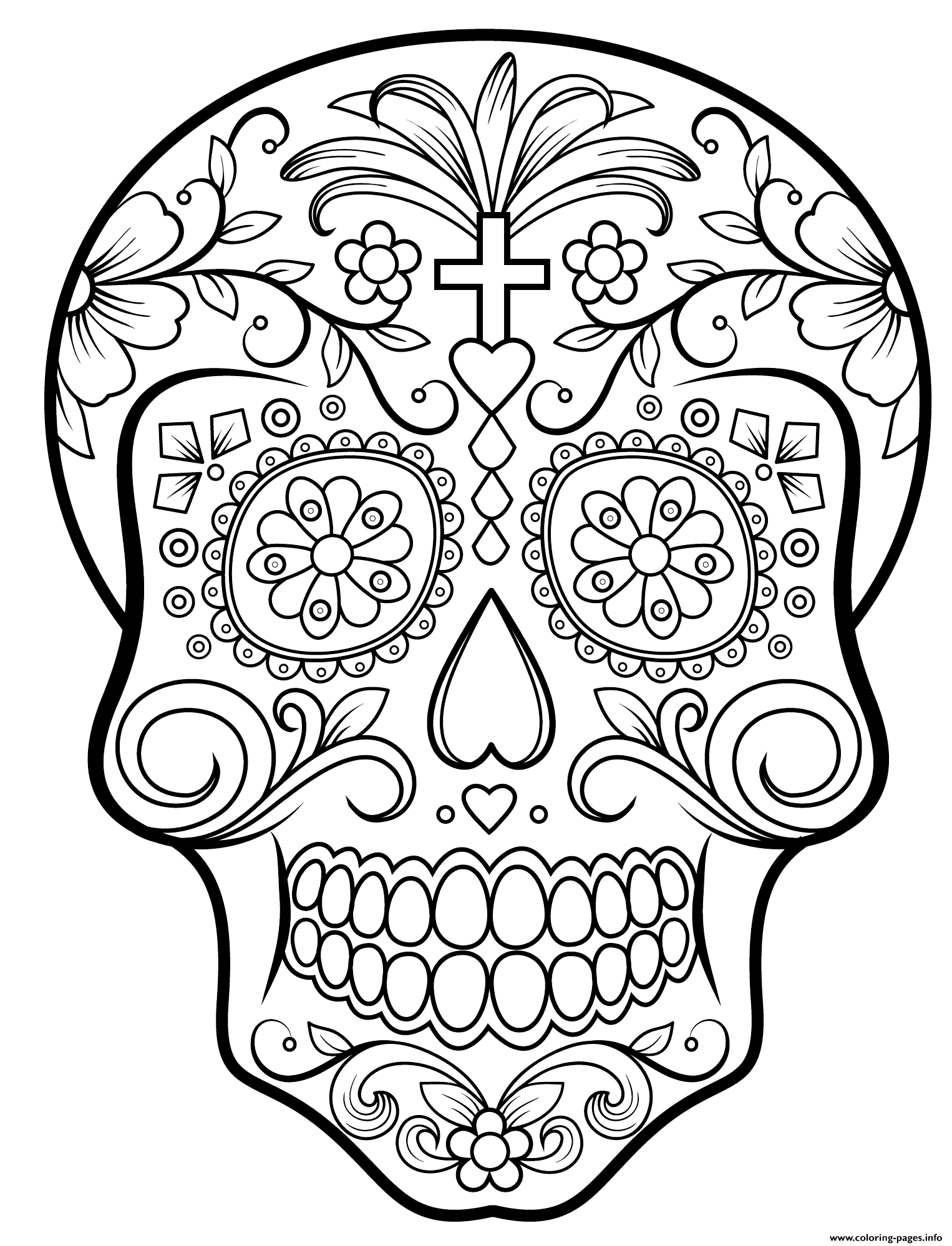 Sugar Skull Calavera coloring pages