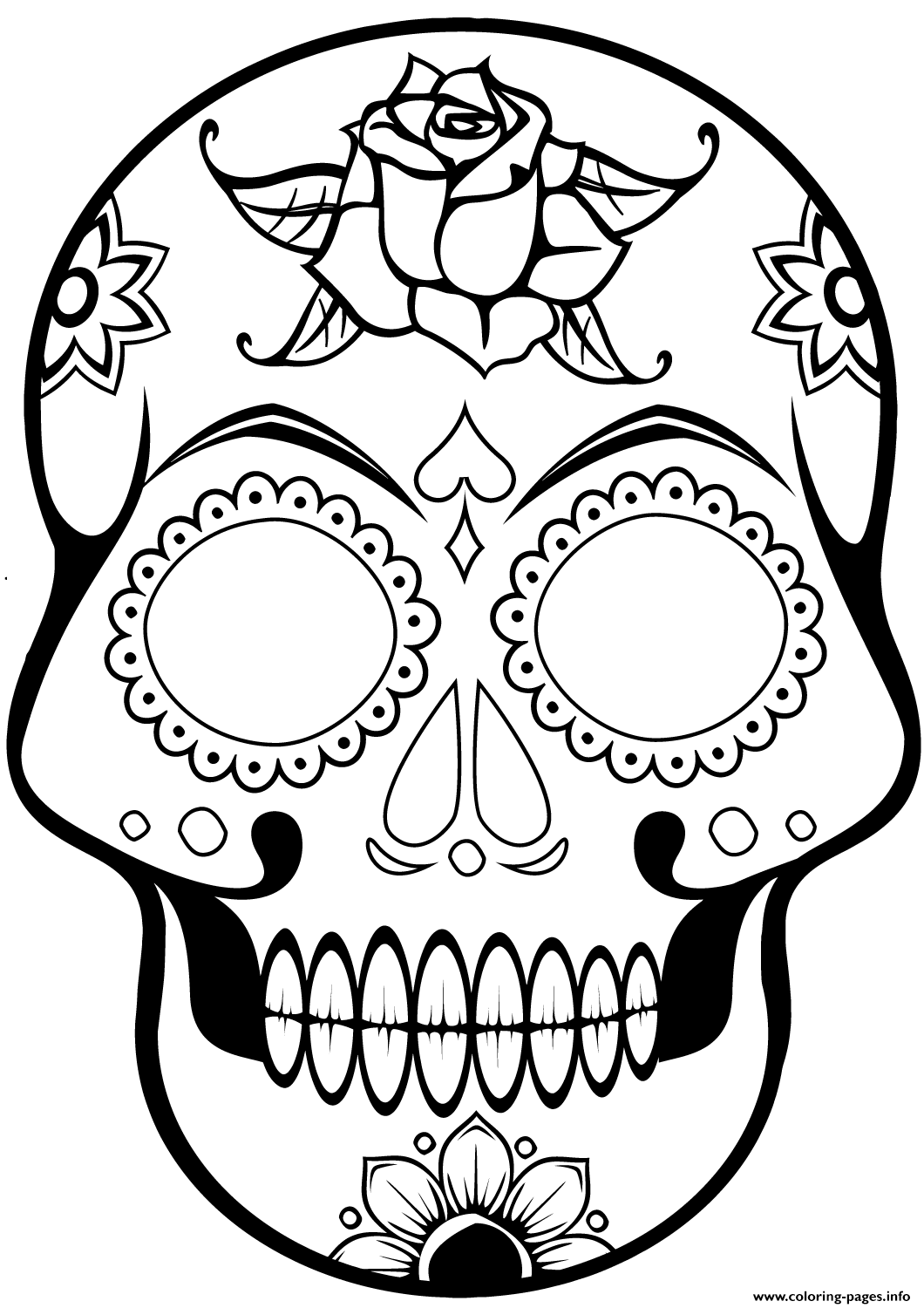 Cool Sugar Skull 2 1 Calavera coloring pages