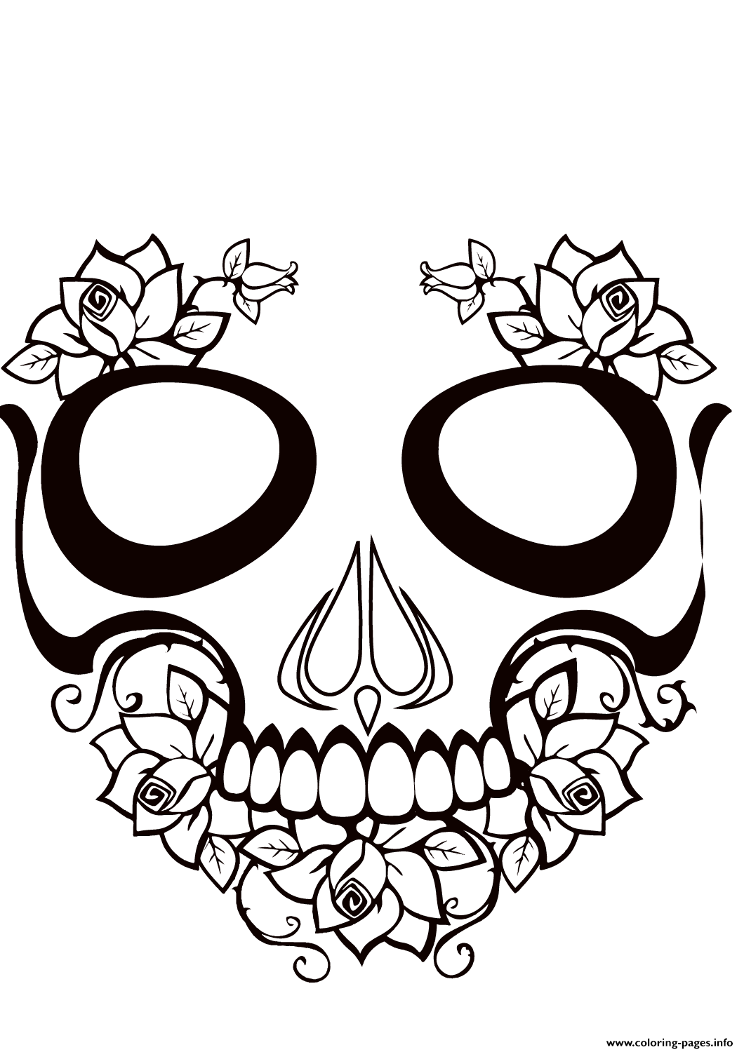 Sugar Skull Hot Calavera Coloring