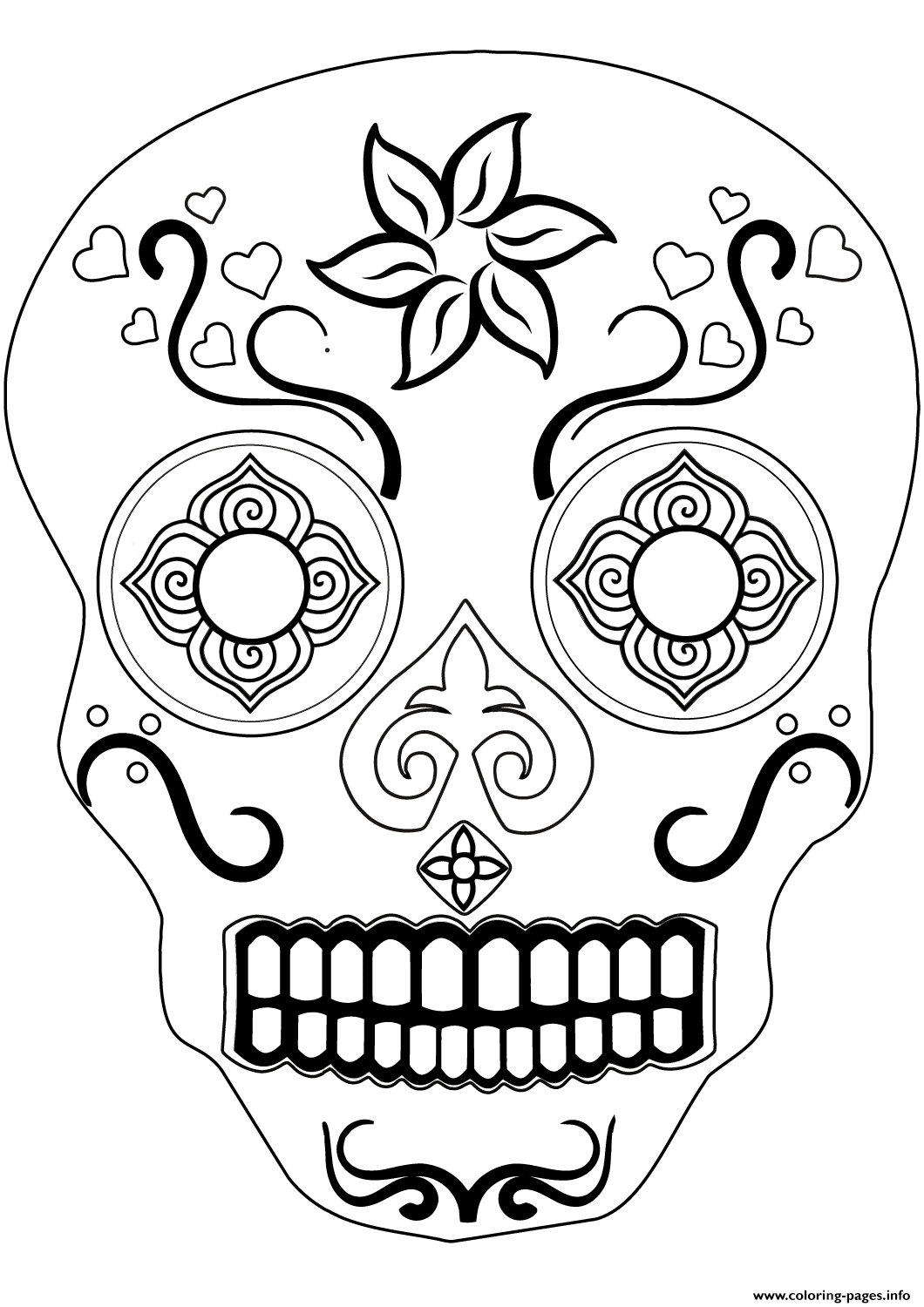 sugar skull 1 calavera coloring pages printable