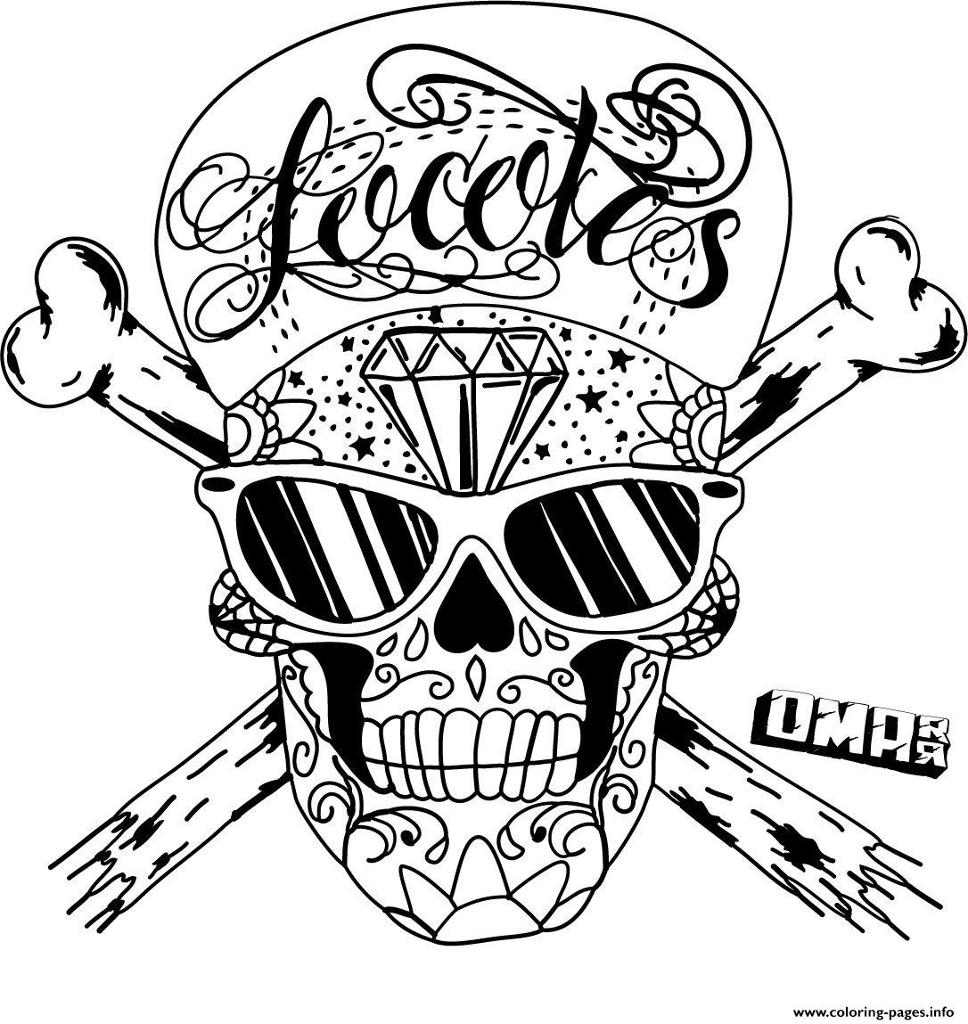 sugar skull by omardeath calavera coloring pages printable - Sugar Skull Coloring Pages Print