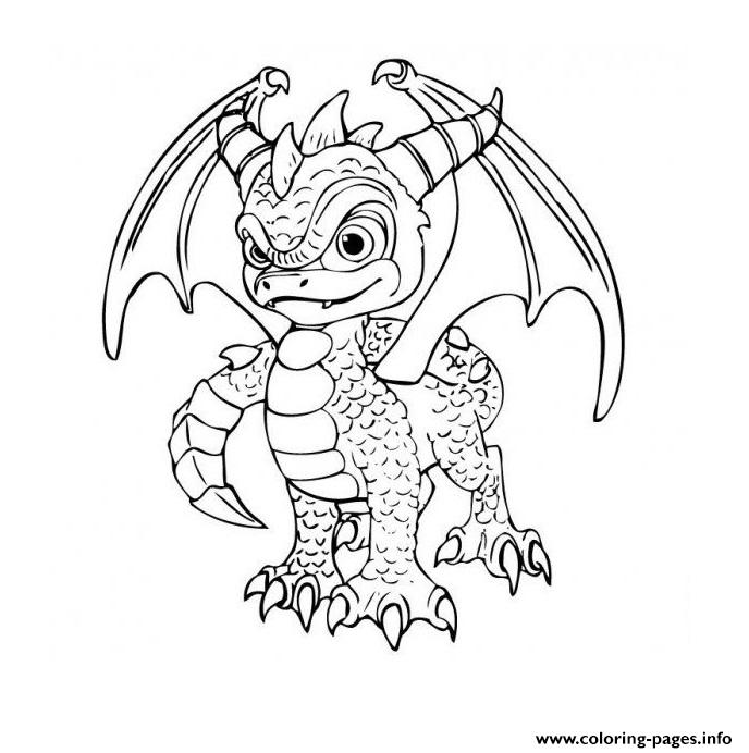 Skylanders Dragon City Coloring Pages Printable