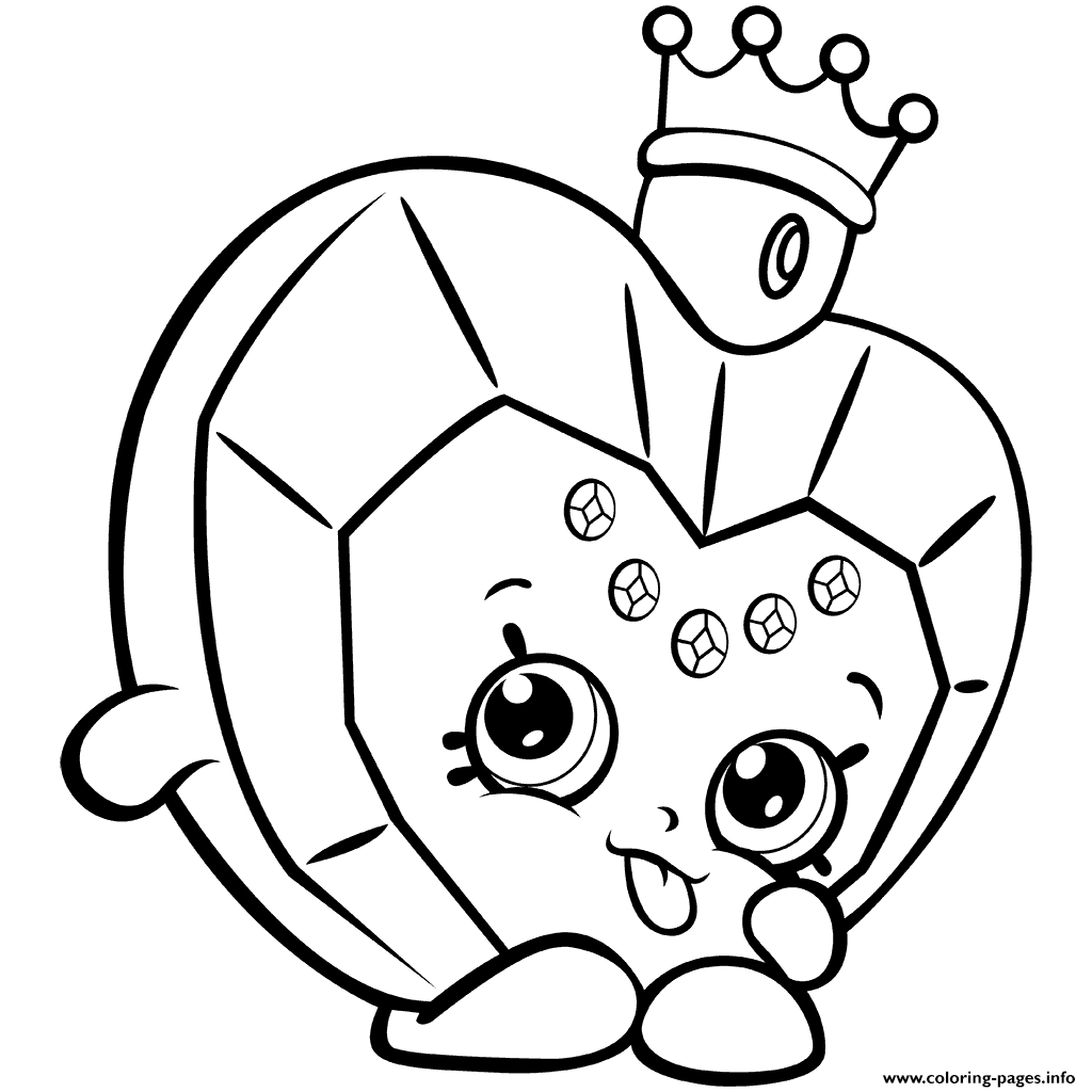 Coloring games of shopkins - Season 7 Perfume Shopkins Big Hearted Princess Scent Coloring Pages