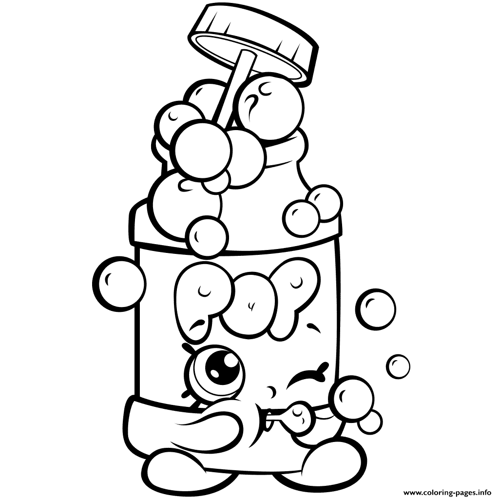 Season 7 Funny Shopkins Pops Bubble Blower coloring pages