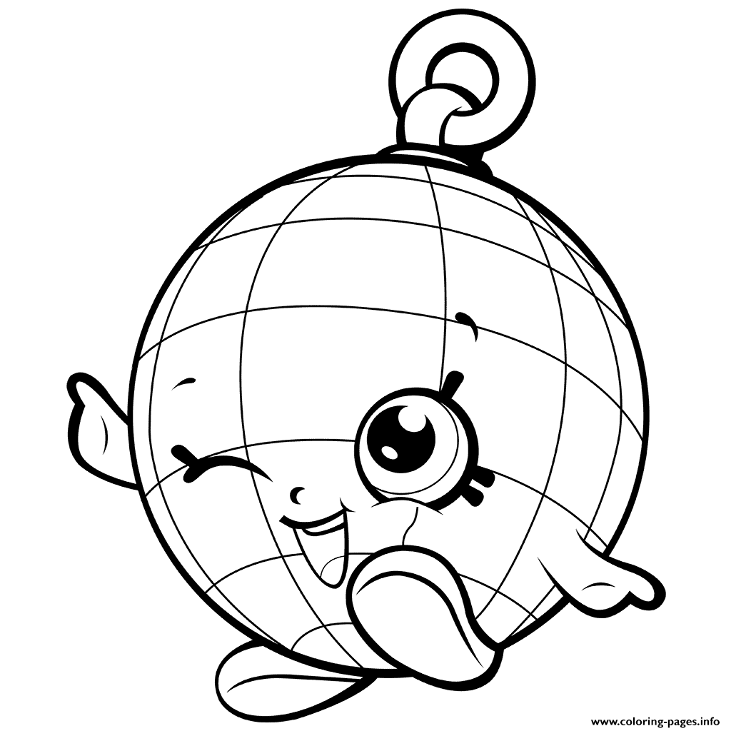 Season 7 New Disco Party Shopkins Disco Ball coloring pages