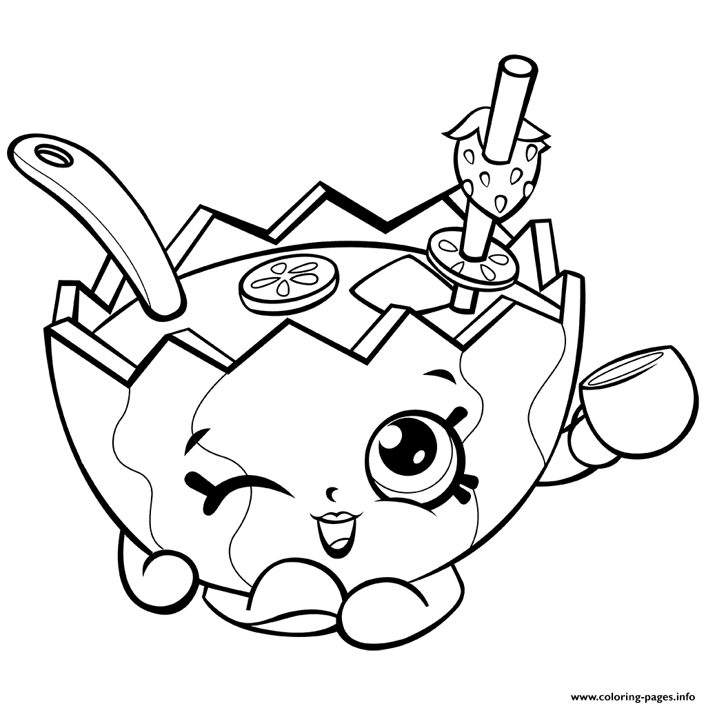 coloring page info - season 7 mallory watermelon punch shopkins season 2017