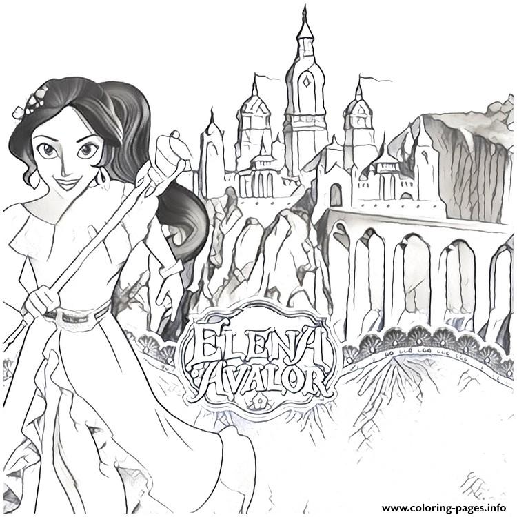 Chateau Kingdom Elena Of Avalor coloring pages