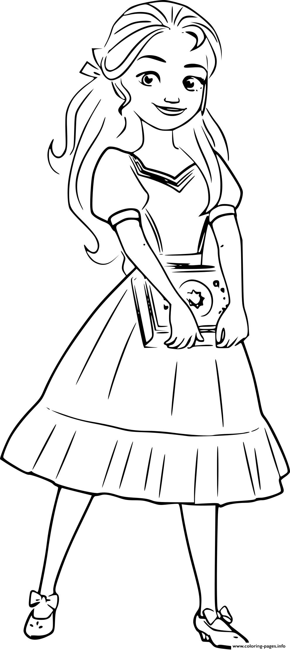 Princess Isabel Elena Of Avalor Coloring Pages Printable