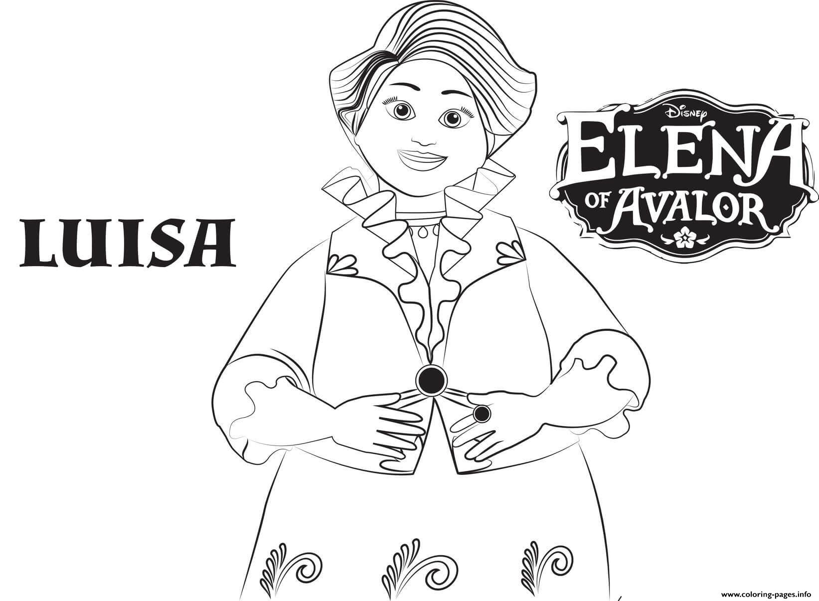 Elena Of Avalor Luisa Disney Coloring