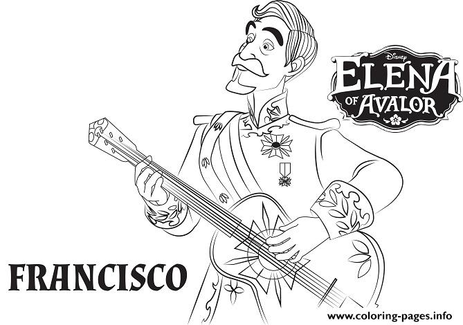 Elena Avalor Francisco coloring pages