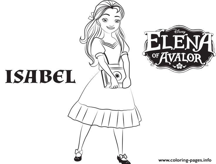 Isabel Elena Of Avalor Disney Princess Coloring Pages Printable
