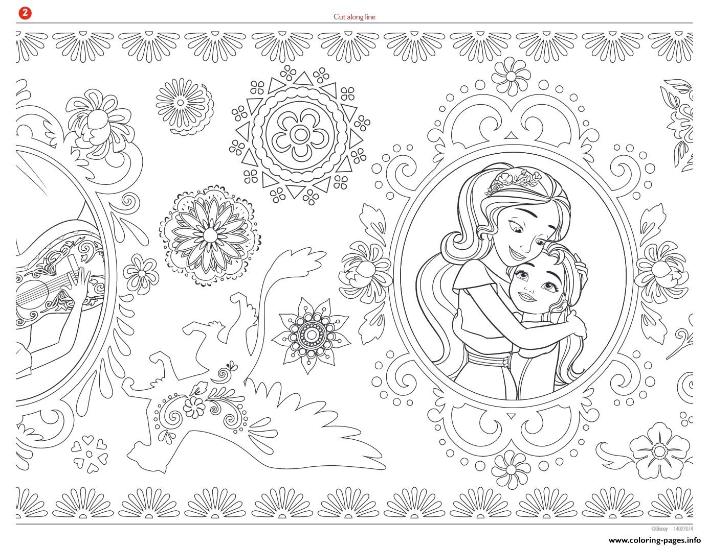 Printable Mandala Zentagle Adult Disney Elena Of Avalor Coloring Pages