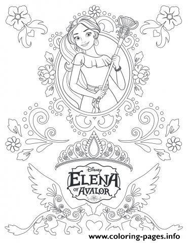 Zentangle Mandala Elena Of Avalor Disney Coloring Pages
