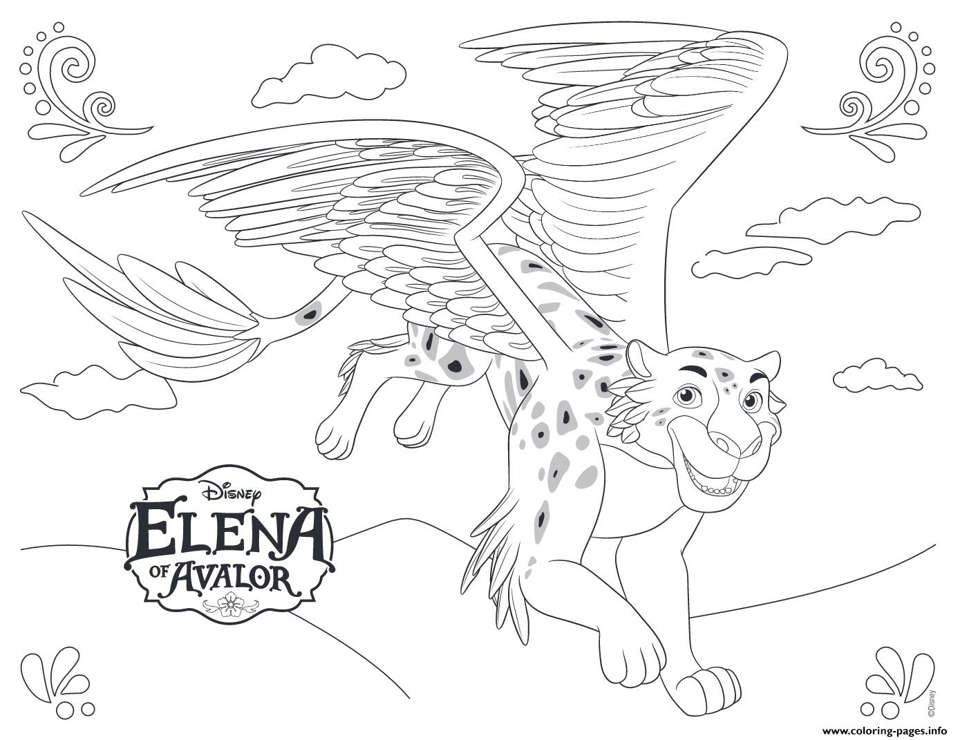 Elena Of Avalor Jaquin Disney Princess coloring pages