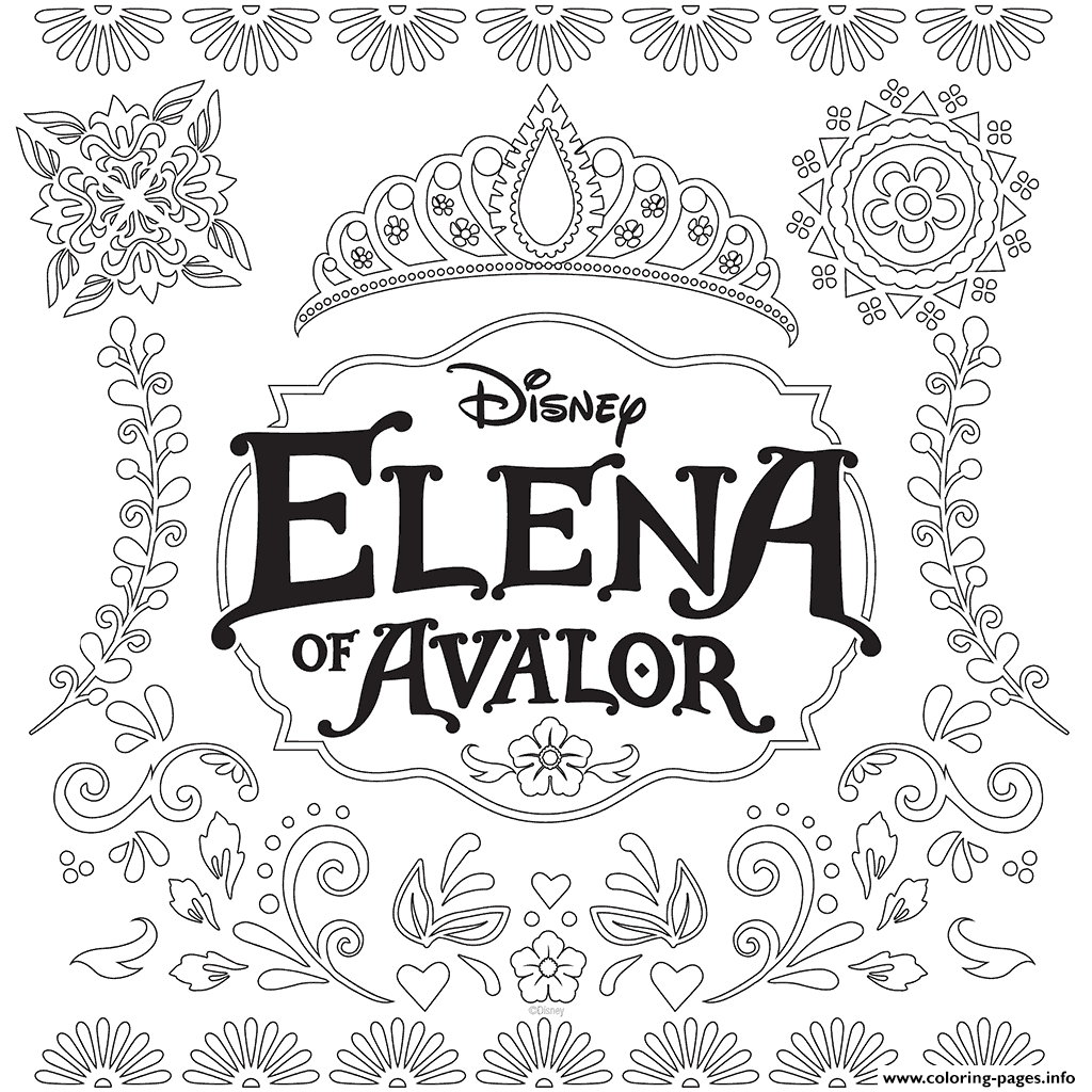Elena Of Avalor Disney Princess Chanel Cartoon Coloring