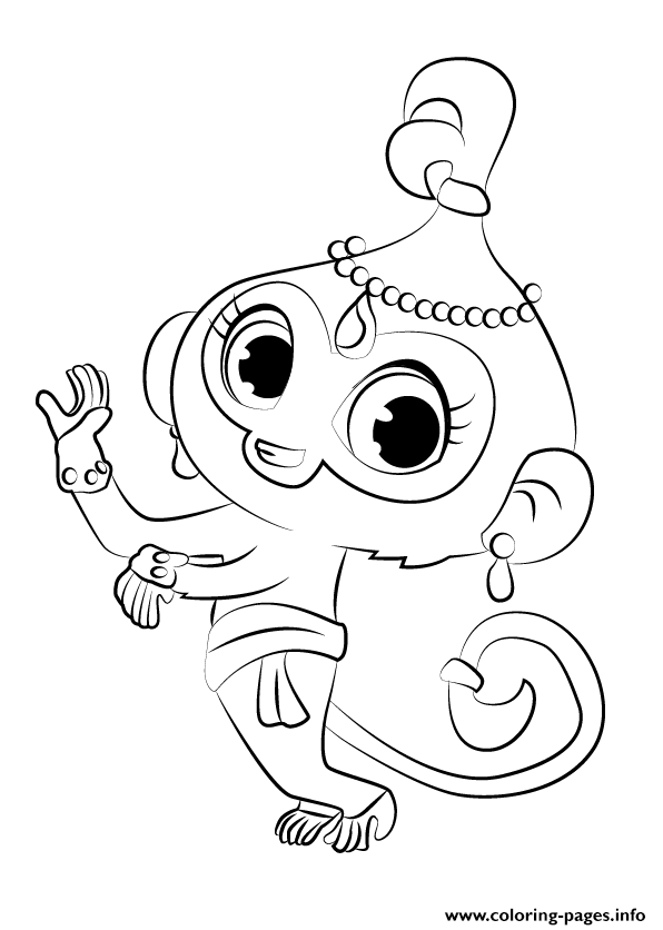 Drawing Tala From Shimmer And Shine Coloring Pages Printable