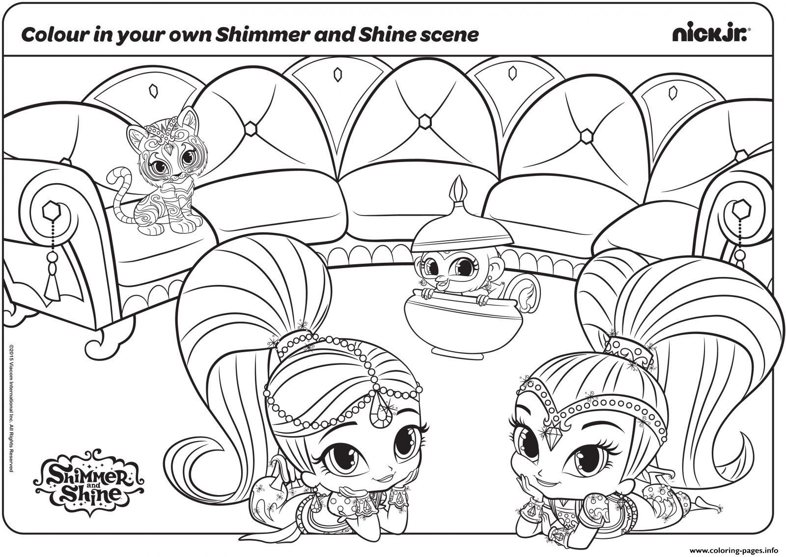 New Shimmer And Shine Coloring