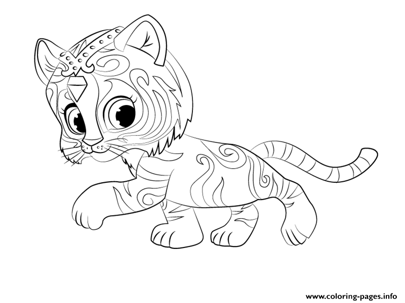 picture regarding Shimmer and Shine Coloring Pages Printable named Tiger Nahal Against Shimmer And Glow Coloring Coloring Internet pages
