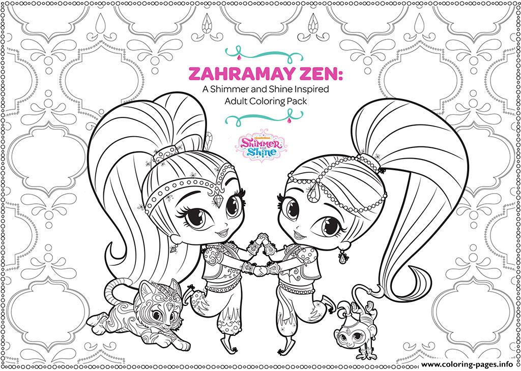 zahramay zen shimmer and shine adult coloring coloring pages print download 232 prints