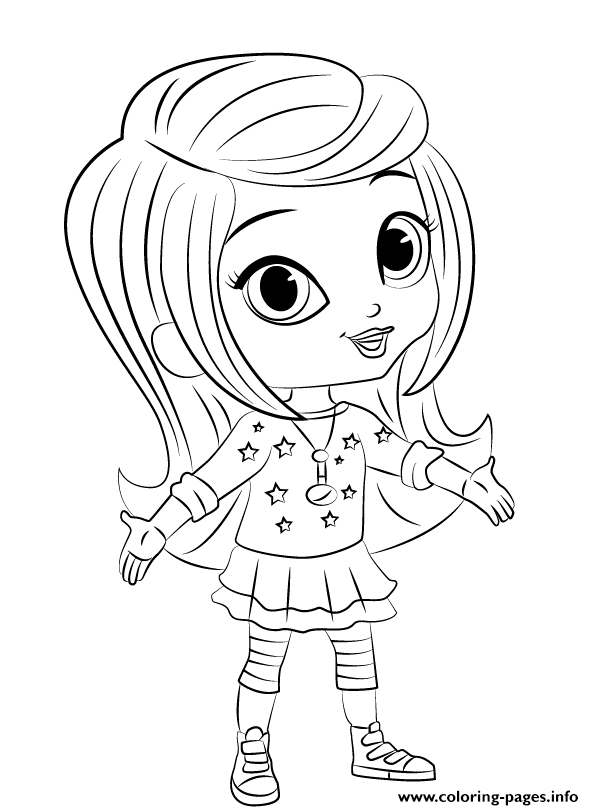 Shimmer And Shine Leah 1 coloring pages