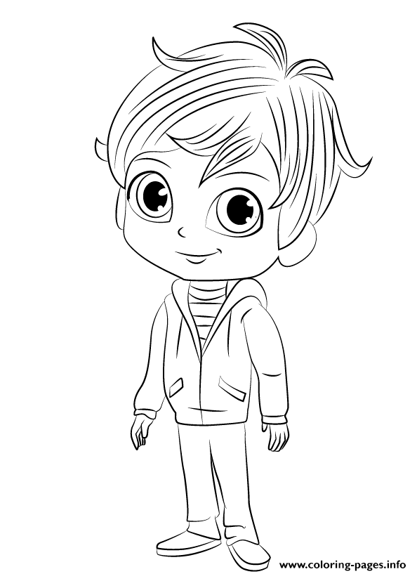 Shimmer And Shine Zac Coloring