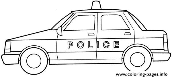 Police Car Simple Kid coloring pages
