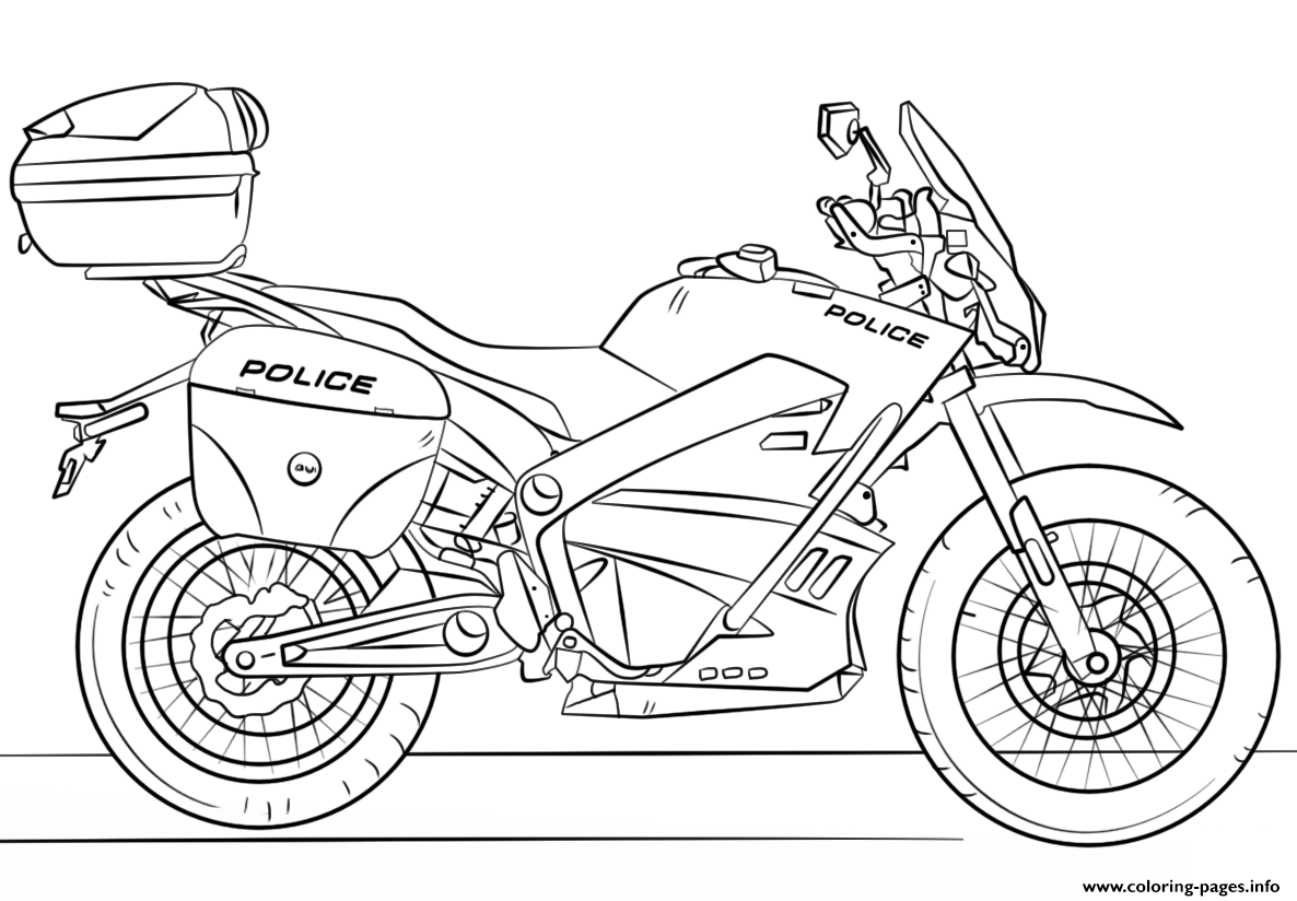 moto motorcycle coloring pages printable